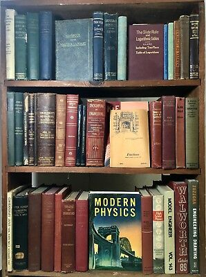 40 Antique OLD ENGINEERING Physics TECHNOLOGY Scholar Book LOT Collection DECOR