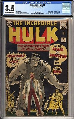 Incredible Hulk #1 CGC 3.5 Off-White/White Pages 1962 1st Appearance of Hulk