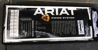 Ariat Terrain II Chaps. Black. Size XSM. Extra Small, Med. New, In Bag.