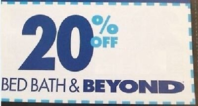 Bed Bath & Beyond 20% Off Coupon Single Item Online ONLY FAST *Exp 2 Weeks