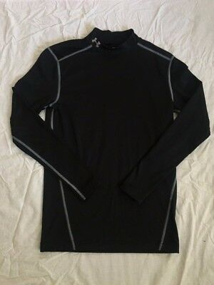 Under Armour Cold Gear Compression Shirt Long Sleeve Black Mens Large