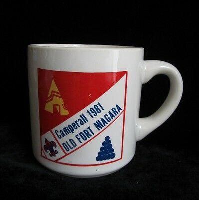 Vintage Boy Scouts of America BSA Camperall 1981 Old Fort Niagara Mug Coffee Cup