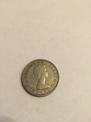 1961 Great Britain Two Shillings Coin