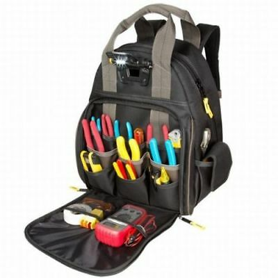 CLC Tech Gear 53 Pocket LED Lighted Tool Backpack 21302
