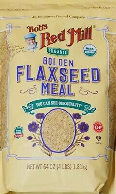 Bobs Red Mill Whole Ground Golden Organic Flaxseed Meal Gluten Free - 4 Lbs