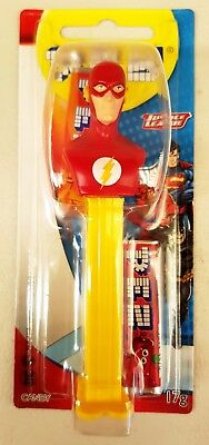 PEZ Candy Dispenser - DC Comics Justice League THE FLASH - 17g Candy BNIP