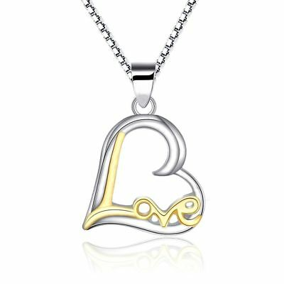 925 Silver Plt Gold Best Buds Heart Friends Necklace Weed Cannabis Smoke A