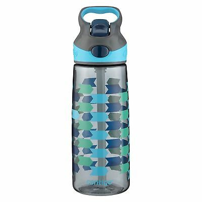 Contigo AUTOSPOUT Striker Kids Straw Water Bottle 20oz Chevron Arrows No-Spill