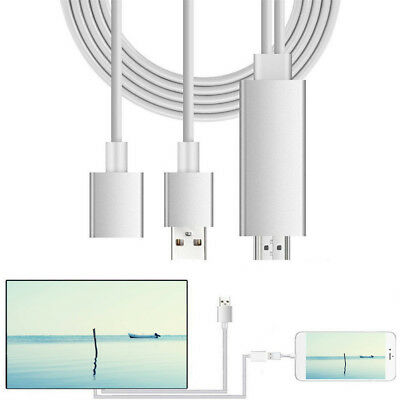 Lightning To HDMI /HDTV Cable AV Adapter Digital For Apple iPhone 6S 7 iPad iPod