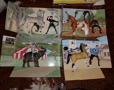 breyer horse and rider series corky and bimbo davey crocket western pony and cow