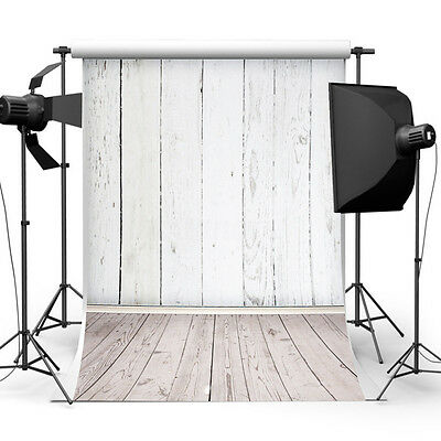 5x7FT Vinyl White Wood Photography Background Backdrop For Studio Photo Props