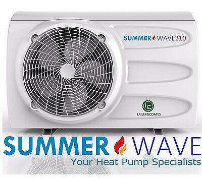 NEW 21/28kw Swimming Pool/Spa Heat Pump - Single Phase, Hardwire, Summerwave 210