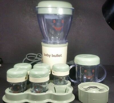 Baby Bullet Food Processor Blender Organic Baby Food Containers Works Great!