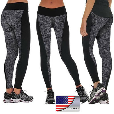 Sports Womens YOGA Workout Gym Running Leggings Pants Jumpsuit Athletic Apparel