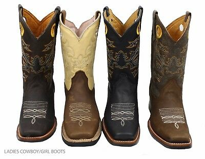 Ladies Genuine Cowhide Leather Western Cow Boy/girl Boots Style-721