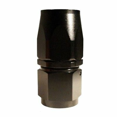 AN-6 (AN6) STRAIGHT FastFlow Stealth Black Hose Fitting T1Y9
