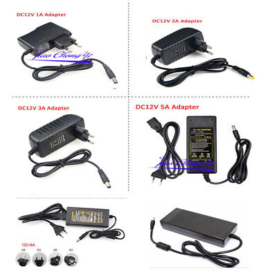 AC100V - 240V To DC12V 1A 5A 10A Power Supply Adapter Transformer For LED strip