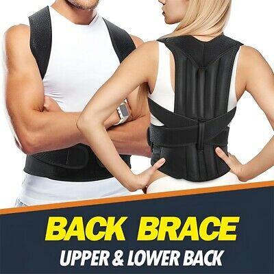 316cd27e6 Unisex Adjustable Back Shoulder Corrector Posture Upper Back Support Brace  Belt