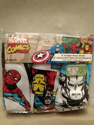 NEW Marvel Comics Toddler Boy's Briefs 3 Pack Size 5t