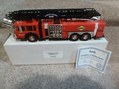 1998 Sunoco Fire Truck Christmas in July limited edition serial numbered NEW