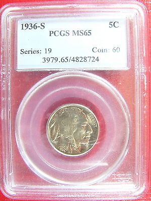 1936-S Buffalo Nickel PCGS MS 65 Cert# 4828724