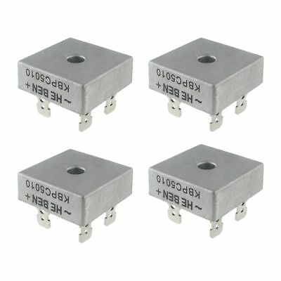 4X 50A 1000V Metal Case Single Phases Diode Bridge Rectifier KBPC5010 Y8F9 A2S8