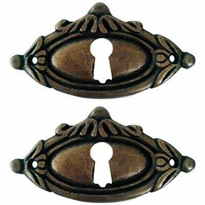Victorian Style Keyhole Cover Escutcheons 2 Pack