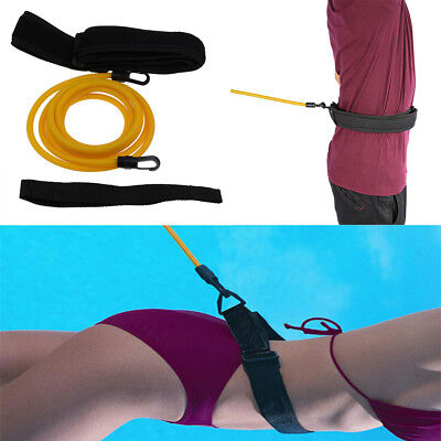Swim Bungee Training Belt Kit Swimming Resistance Safe Leash Exerciser Tether