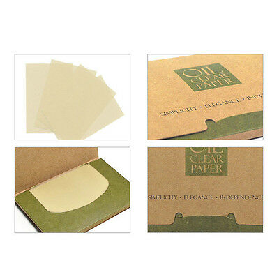 100 Sheets Oil Control Facial Clean Paper Make Up Face Oil-Absorbing Blotting AU