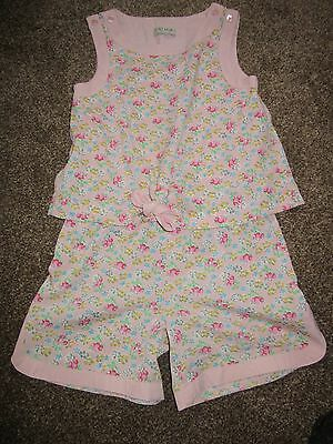 Girls NEXT Playsuit Age 6 Years Pink Floral Pattern Ditzy Romper All In One