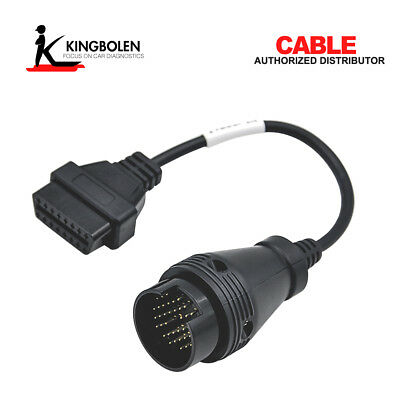 38 Pin to 16 Pin OBD2 Adapter Connector Diagnostic Cable for Iveco Truck Black