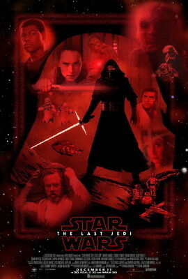"""052 Star Wars The Last Jedi - Daisy Ridley Action USA 2017 Movie 14""""x20"""" Poster"""