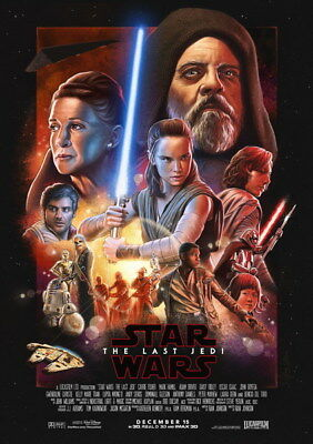 """047 Star Wars The Last Jedi - Daisy Ridley Action USA 2017 Movie 24""""x34"""" Poster"""
