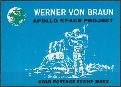 Ras al Khaima 1969 ** Mi.297 A+B Folder Gold Foil Weltraum Space Apollo [sr3184]