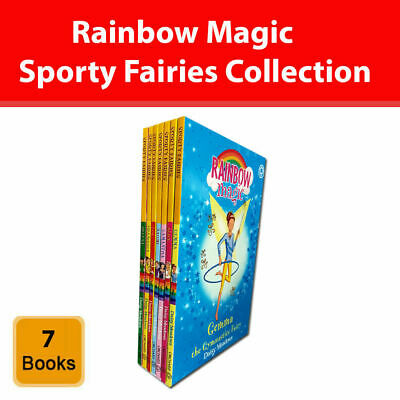 Rainbow Magic Sporty Fairies series Daisy Meadows 7 books collection box set NEW