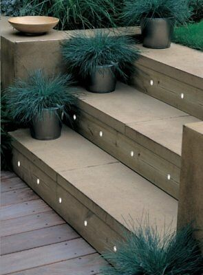 OUTDOOR USE Kit of 30 15mm White LED Deck/Step/Garden/Plinth/Recessed Light IP66