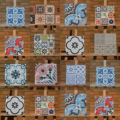 Victorian, Mexican Style Rectified Matt Ceramic 30x30cm Wall and Floor Tiles