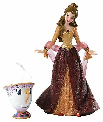 Enesco Disney Showcase Beauty and the Beast Christmas Belle Figurine and Chip