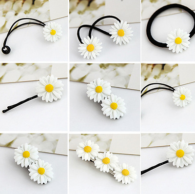 Girl Kids Baby Daisy Elastic Hair Ring Rope Bands Hair Ponytail Holder Cute