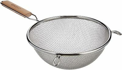 Winco MS3A-8D Strainer with Double Fine Mesh 8-Inch Diameter Medium