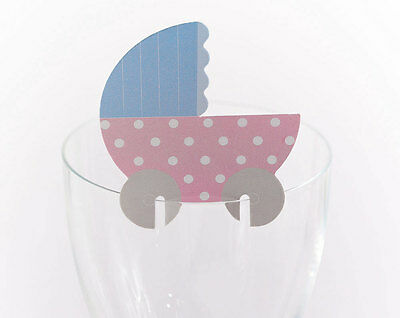 Tiny Feet Baby Shower Glass Place Cards pack of 10