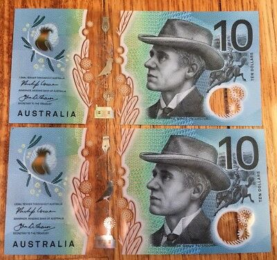 💵Limited AUS new $10 ten dollars note first & last prefix AA & EA Collect🇦🇺.