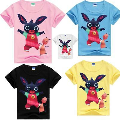 Bing Bunny Rabbit cartoon Kids T-Shirts Cotton tshirts Tops Clothes Shirts  AU
