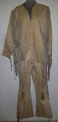 Men buckskin wardrobe outfit moccasins preowned excellent condition