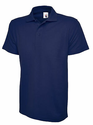 Polo Shirt Navy Blue Large Uneek Workwear Work Shirt Polo Top Olympic UC124