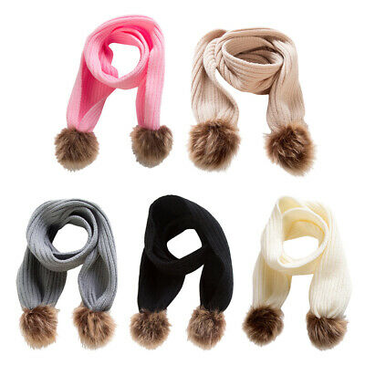 Toddlers Kids Baby Boys Girls Winter Solid Knitted Warm Scarf Neck Warmer