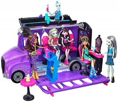Monster High Deluxe School 2 in 1 Bus Spa Playset Toy