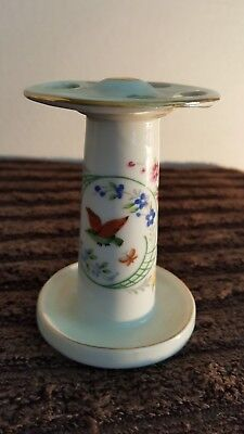 Vintage Ceramic Porcelain Toothbrush Holder Yellow Rose Made in Japan