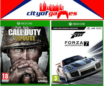 Call of Duty WWII & Forza Motorsport 7 Bundle Xbox One New & Sealed