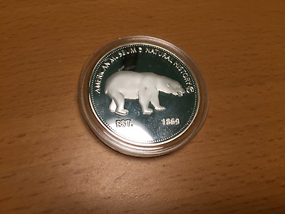*hot*rare* Silver American Museum Of Natural History Souvenir Commemorative Coin